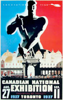 CNE Poster 1937, 56 x 34.5 cm :: Collection of the author